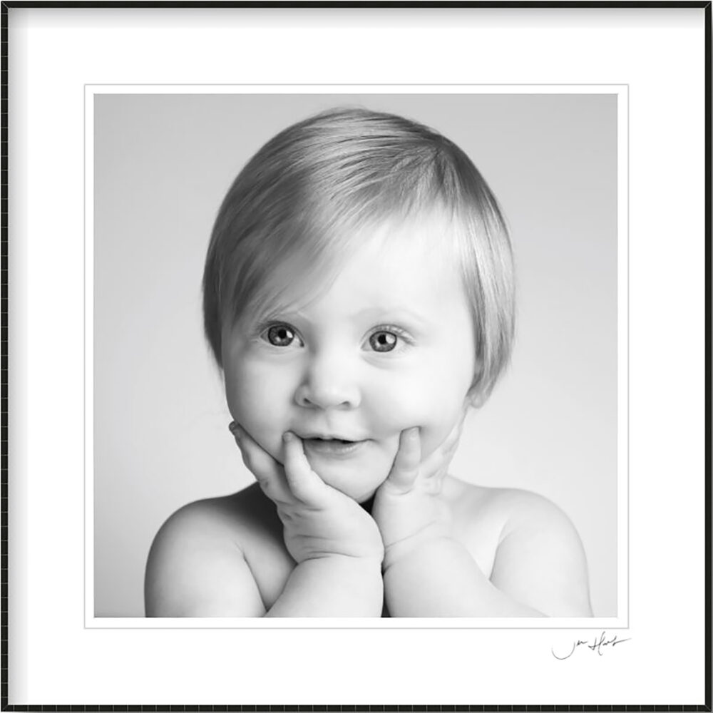 Black and White Childrens Portraits in the Studio by Jen Hart Photographer in Middlesbrough Teesside
