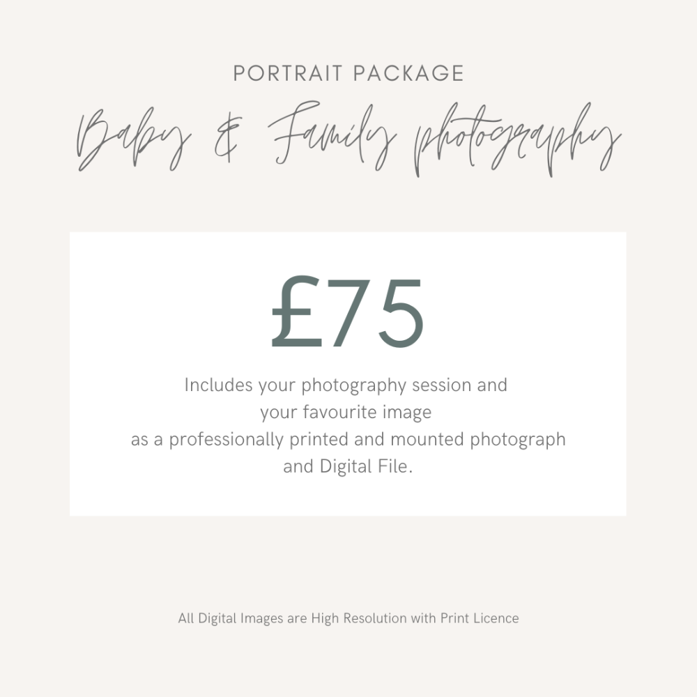 Gift Experience for Baby and Family Photography in Middlesbrough Teesside