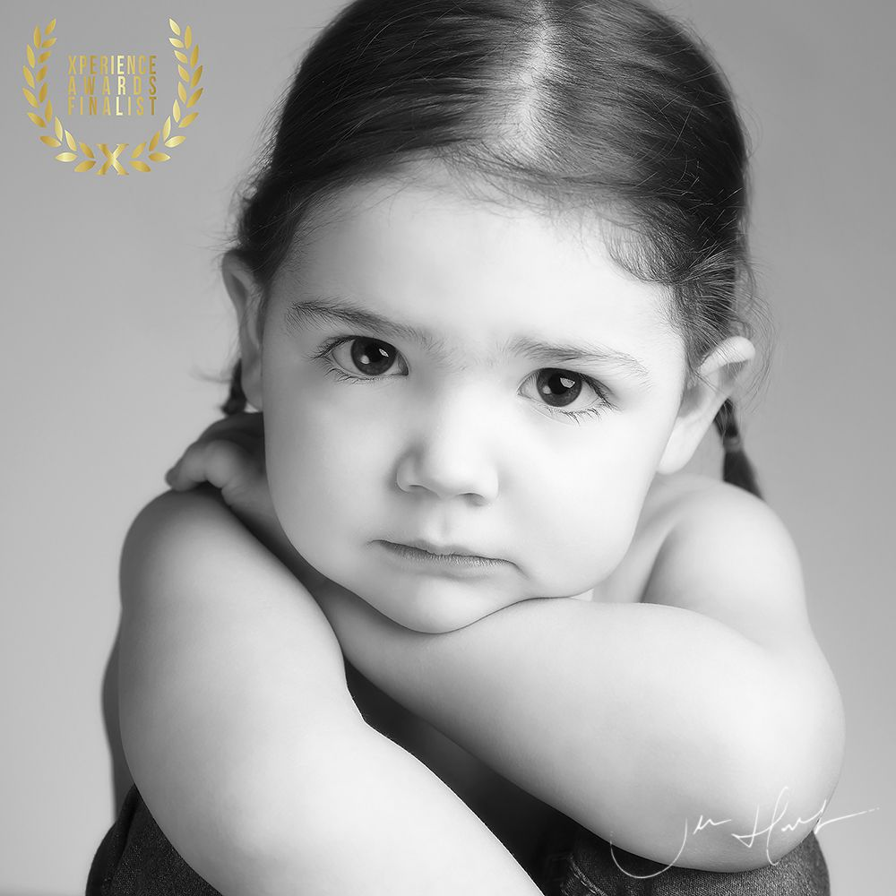 Black and White Childrens Portraits by Award Winning photographer Jen Hart in Middlesbrough Teesside